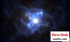 六个星系把一个超级黑洞包围了